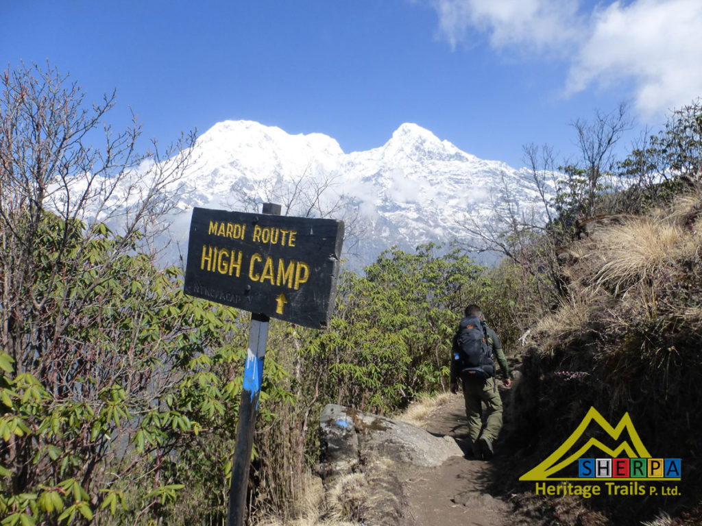 On the Mardi Himal trail